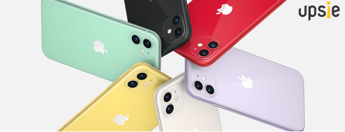 iPhone 11 phones showing all colors